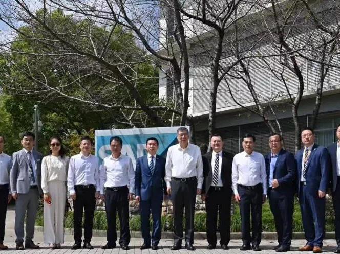 相约黄浦江畔 共话中德企业合作   佛山市领导参观考察 SAP 中国研究院